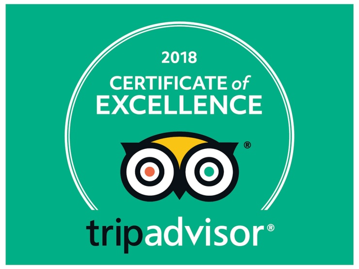 CERTIFICATE OF EXCELLENCE 2018 TRIPADVISOR